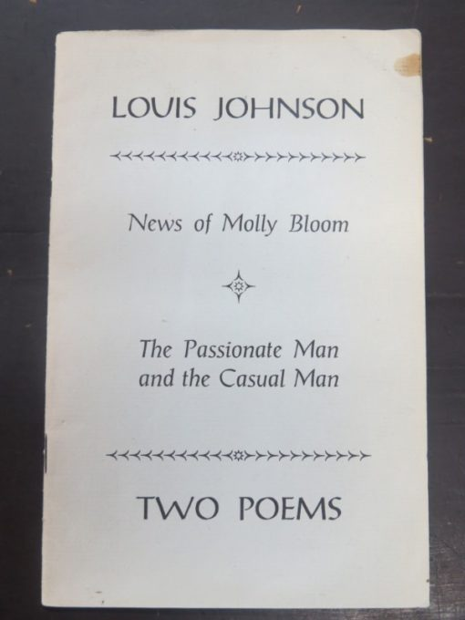 Louis Johnson, Two Poems