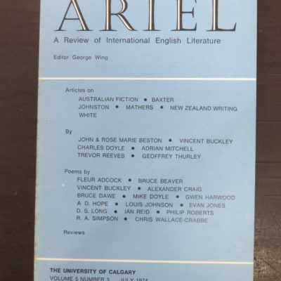 Ariel, James K Baxter, New Zealand Poetry, photo 1