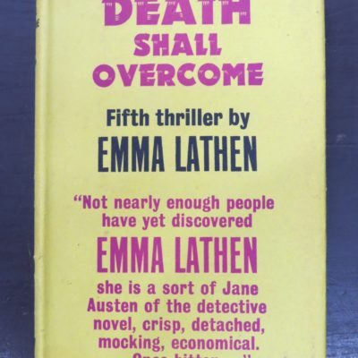 Emma Lathen, Death Shall Overcome, Gollancz, London, Crime, Mystery Detection, Dunedin Bookshop, Dead Souls Bookshop