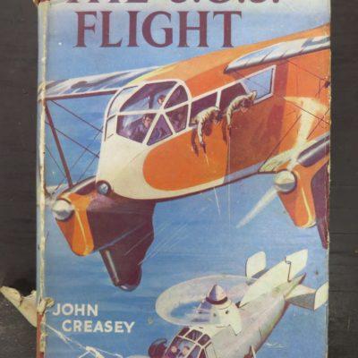 John Creasey, The S.O.S. Flight, Sampson Low, London, Vintage, Dunedin Bookshop, Dead Souls Bookshop