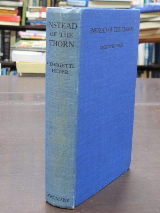 Georgette Heyer, Instead of the Thorn, Longsmans, Green, New York, Vintage, Dunedin Bookshop, Dead Souls Bookshop