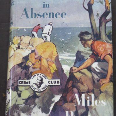 Miles Burton, Murder in Absence, Crime Club, Collins, London, Crime, Mystery, Detection, Dunedin Bookshop, Dead Souls Bookshop