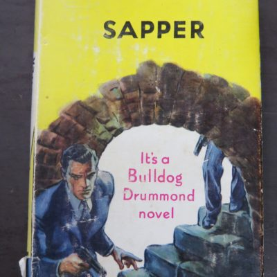 Temple Tower, Sapper, Yellow Jacket, Hodder & Stoughton, London, 1954, Crime, Mystery, Detection, Vintage, Dunedin Bookshop, Dead Souls Bookshop