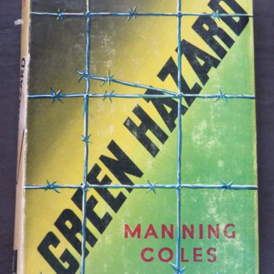 Manning Coles, Green Hazard, Yellow Jacket, Hooder & Stoughton, London, 1950, Crime, Mystery, Detection, Dunedin Bookshop, Dead Souls Bookshop