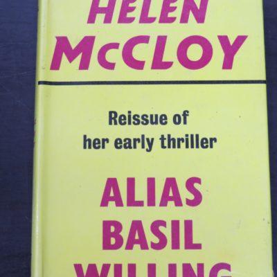 Helen McCloy, Alias Basil Willing, Gollancz, Reissue, London, 1973, Crime, Mystery, Detection, Dunedin Bookshop, Dead Souls Bookshop