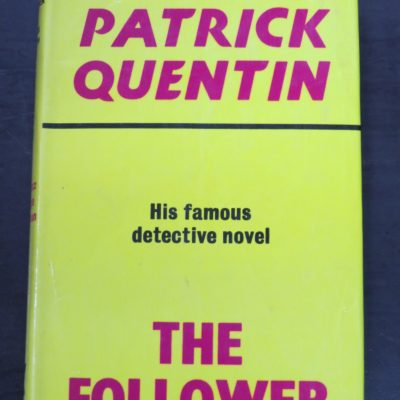 Patrick Quentin, The Follower, Gollancz, London, 1975, reissue, Crime, Mystery, Detection, Dunedin Bookshop, Dead Souls Bookshop