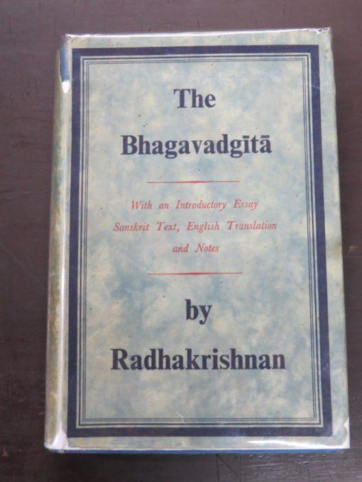 Radhakrishnan, The Bhagavadgita, George Allen and Unwin, London, Religion, Dunedin Bookshop, Dead Souls Bookshop