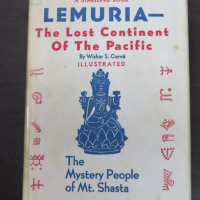 Wishar S. Cerve, The Lost Continent of Lemuria, Occult, Philosophy, Religion, Dunedin Bookshop, Dead Souls Bookshop