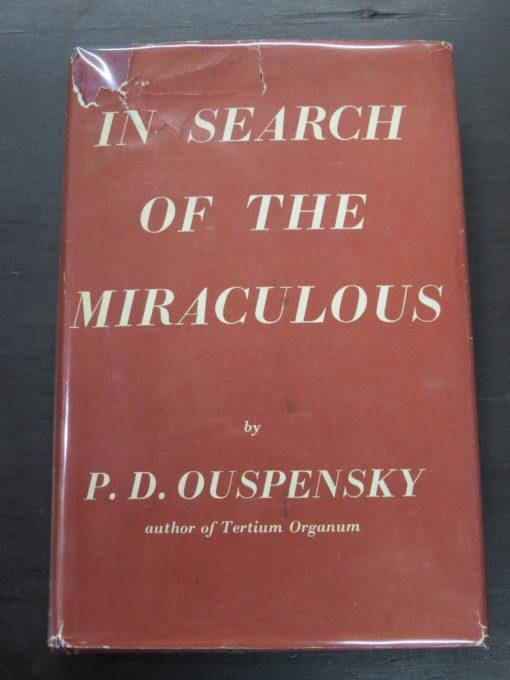 Ouspensky, In Search of the Miraculous, Routledge, Kegan Paul, London, Occult, Philosophy, Religion, Dunedin Bookshop, Dead Souls Bookshop