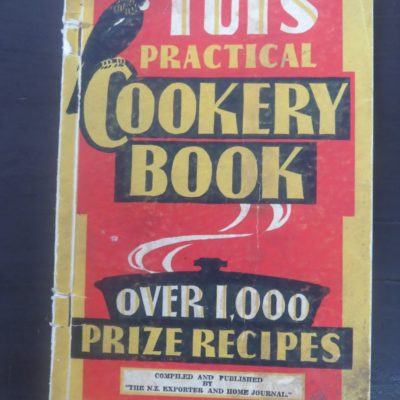Tui's Practical Cookery Book, Nz Exporters, Cooking, Cookery, Tui, Dead Souls Bookshop, Dunedin Book Shop