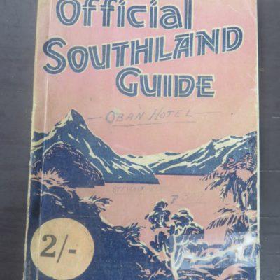 Official Southland Guide, Southland, New Zealand Non-Fiction, Dead Souls Bookshop, Dunedin Book Shop