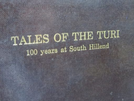 Tales of the Turi, 100 Years at South Hillend, New Zealand Non-Fiction, Southland, Dead Souls Bookshop, Dunedin Book Shop