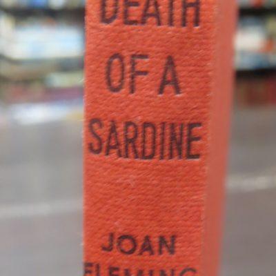Joan Fleming, Death of a Sardine, Crime Club, Collins, London, Crime, Mystery, Detection, Dead Souls Bookshop, Dunedin Book Shop