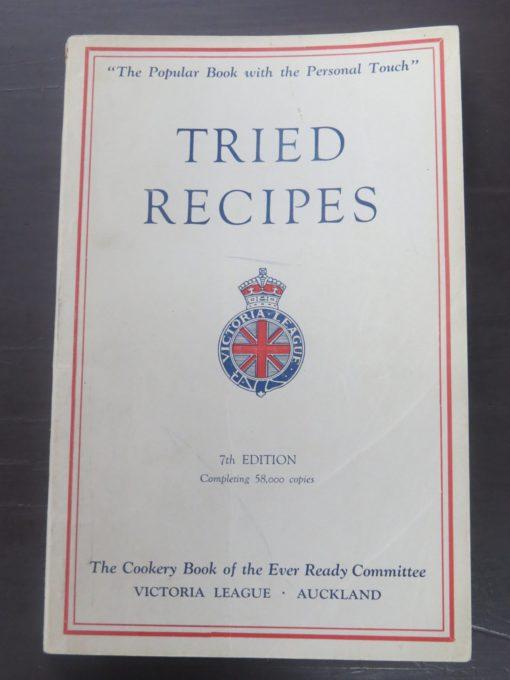 Bertha Rickerby, Tried Recipes, Reed, Wellington, 1950, Victoria League, Cookery, Cooking, Dead Souls Bookshop, Dunedin Book Shop