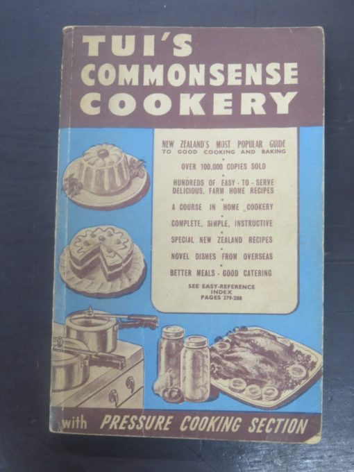 Tui';s Third Book of Commonsense Cookery, Hutcheson, Bowman, Stewart, Wellington, Cooking, Cookery, Dead Souls Bookshop, Dunedin Book Shop