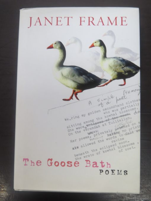 Janet Frame, The Goose Bath Poems, Random House, New Zealand Literature, New Zealand Poetry, Dead Souls Bookshop, Dunedin Book Shop