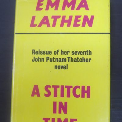 Emma Lathen, A Stitch in Time, Gollancz, London, Crime, Mystery, Detection, Dead Souls Bookshop, Dunedin Book Shop