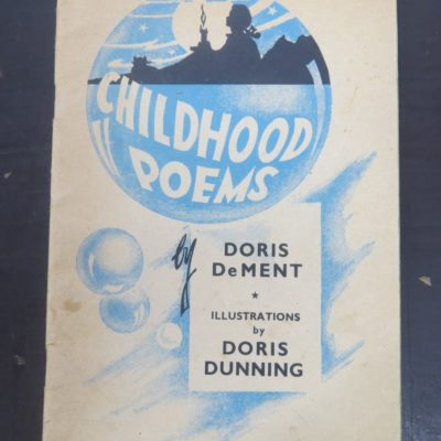 Doris Dement, Doris Dunning, Childhood Poems, McIndoe, Dunedin, New Zealand Literature, New Zealand Poetry, Illustration, Dead Souls Bookshop, Dunedin Book Shop