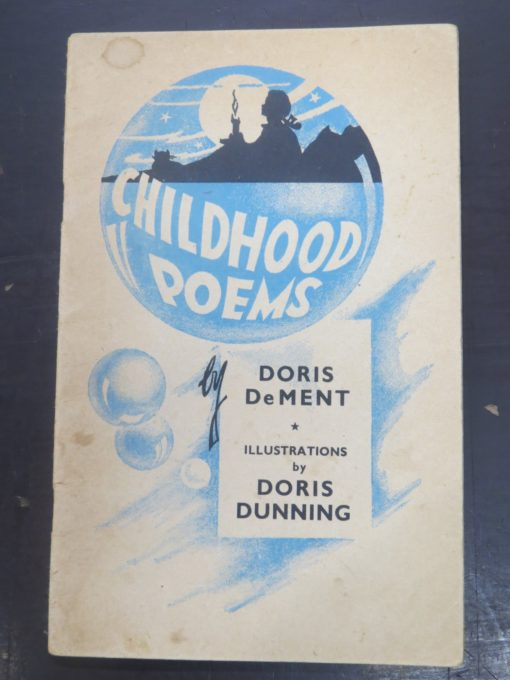 Doris Dement, Doris Dunning, Childhood Poems, McIndoe, Dunedin, New Zealand Literature, New Zealand Poetry, Illustration, Dead Souls Bookshop, Dunedin Book Shop