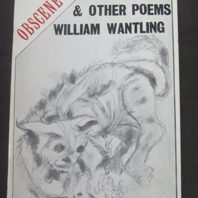 William Wantling, Obscene and Other Poems, Caveman Press, Dunedin, Literature, Poetry, Dead Souls Bookshop, Dunedin Book Shop