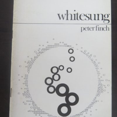 Peter Finch, Whitesung, Aquila Pamphlet Poetry, Warks, 1972, Literature, Poetry, Dead Souls Bookshop, Dunedin Book Shop