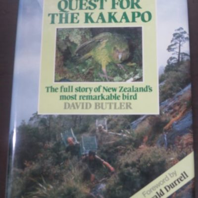 David BUtler, Quest for the Kakapo, Heinemann Reed, Auckland, New Zealand Non-Fiction, Dead Souls Bookshop, Dunedin Book Shop
