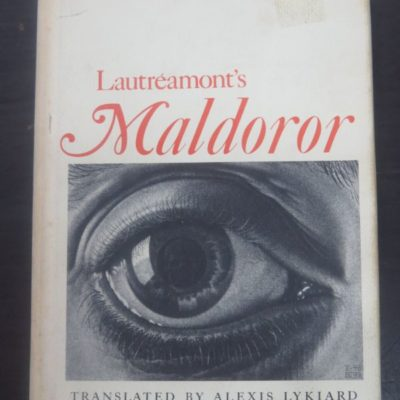 Lautreamont's Maldoror, Alexis Lykiard, Crowell, New York, Literature, Art, Surrealist, Dead Souls Bookshop, Dunedin Book Shop