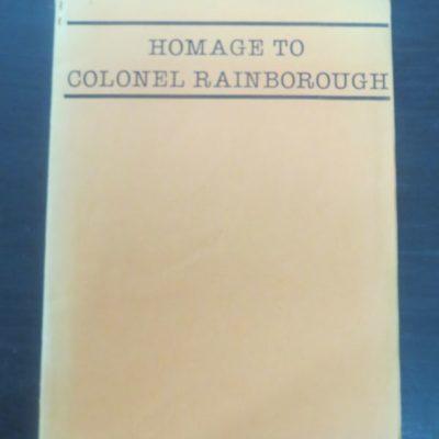 Selwyn Pritchard, Homage to Colonel Rainborough, Omanawa Press, Wanganui, 1983, New Zealand Poetry, New Zealand Literature, Dead Souls Bookshop, Dunedin Bookshop