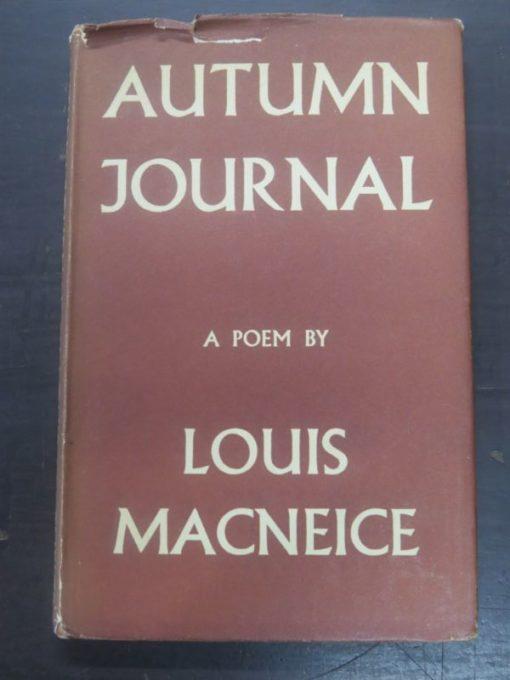 Louis Macneice, Autumn Journal, Faber, London, 1939, poetry, literature, Dead Souls Bookshop, Dunedin Book Shop