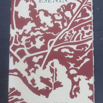Esenin, Poems, Translated by Charles Brasch, Peter Soskice, Wai-te-ata Press, Wellington, 1970, Poetry, Russian Poetry, Literature, Dead Souls Bookshop, Dunedin Book Shop