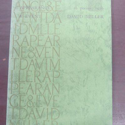 David Miller, 16 poems, Hawk Press, 1977, New Zealand Literature, New Zealand Poetry, New Zealand Poet, Dead Souls Bookshop, Dunedin Book Shop,