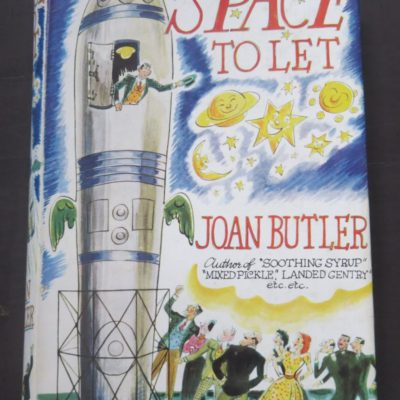 Joan Butler, Space To Let, Stanley Paul and Co., London, 1955, Robert Willia,m Alexander, Literature, Dead Souls Bookshop, Dunedin Book Shop