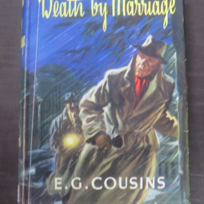 E. G. Cousins, Death By Marriage, Thriller Book Club, London, 1959, Crime, Mystery, Detection, Dead Souls Bookshop, Dunedin Book Shop