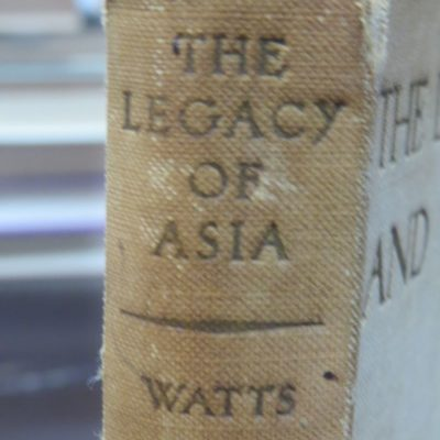 Alan W. Watts, Legacy of Asia and Western Man, Study of the Middle Way, John Murray, London, 1937, Philosophy, Religion, Dead Souls Bookshop, Dunedin Book Shop
