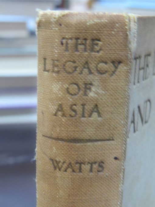 Alan W. Watts, Legacy of Asia and Western Man, Study of the Middle Way, John Murray, London, 1937, Philosophy, Religion, Dead Souls Bookshop, Dunedin Book Shop
