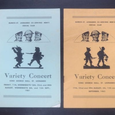 Variety Concert, King George Hall, St. Leonards, 1962, Otago, Dunedin, Dead Souls Bookshop, Dunedin Book Shop