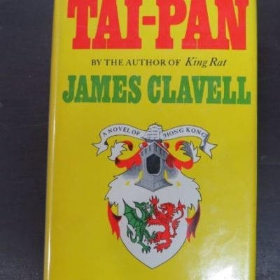 James Clavell, Tai-Pan, A Novel of Hong Kong, Michael Joseph, London, 1966, Literature, Dead Souls Bookshop, Dunedin Book Shop