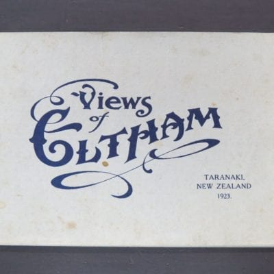 "Views of Eltham, Taranaki, New Zealand, 1923, J. T. Ellis ... Photographer, and printed at the ""Taranaki Daily News"" office, New Plymouth, 1923, Eltham Progress Committee, New Zealand Non-Fiction, New Zealand Photography, Dead Souls Bookshop, Dunedin Book Shop"