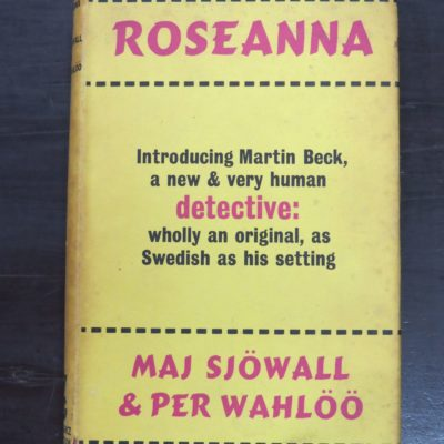 Maj Sjowall, Per Wahloo, Roseanna, Translated from the Swedish by Lois Roth, Gollancz, London, 1968, Crime, Mystery, Detection, Dead Souls Bookshop, Dunedin Book Shop