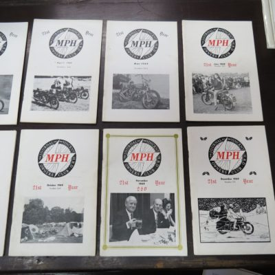 MPH, The Journal of the Vincent-HRD Owner's Club, 1969, Motorcycles, Automobiles, Motoring, Dead Souls Bookshop, Dunedin Book Shop