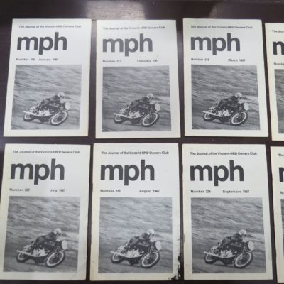MPH, The Journal of the Vincent-HRD Owner's Club, 1967, Automobiles, Transport, Motorcycles, Dead Souls Bookshop, Dunedin Book Shop