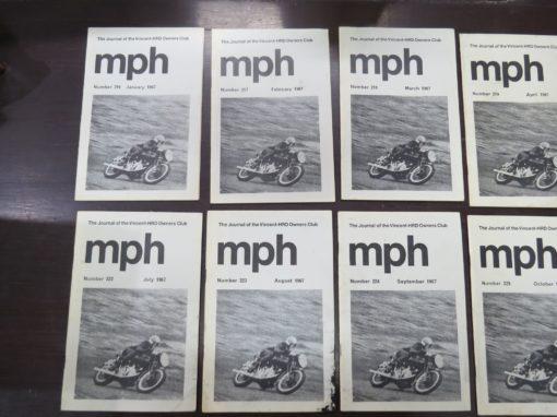 MPH, The Journal of the Vincent-HRD Owner's Club, 1967, Automobiles, Transport, Motorcycles, Dead Souls Bookshop, Dunedin Book Shop