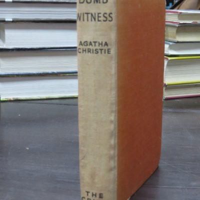 Agatha Christie, Dumb Witness, The Crime Club, Collins, London, 1937, Crime, Mystery, Detection, Dead Souls Bookshop, Dunedin Book Shop