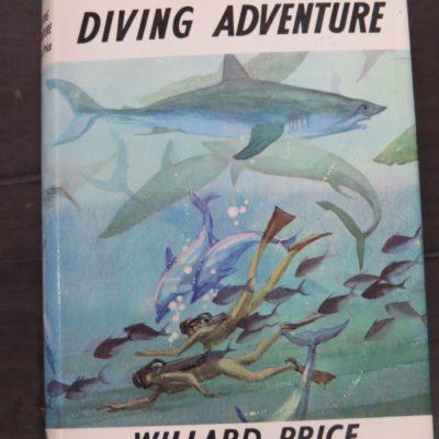 Willard Price, Diving Adventure, Illustrated by Pat Marriott, Cape, London, 1970, Vintage, Dead Souls Bookshop, Dunedin Book Shop