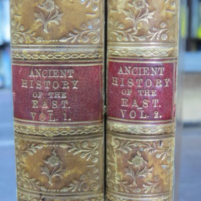 Francois Lenormant, E. Chevallier, The Student's Manual of Oriental History, A Manual of the Ancient History of the East, 1879, 2 Volumes, Asher and Co., London, 1879, History, Antiquarian, Prize Binding, Dead Souls Bookshop, Dunedin Book Shop